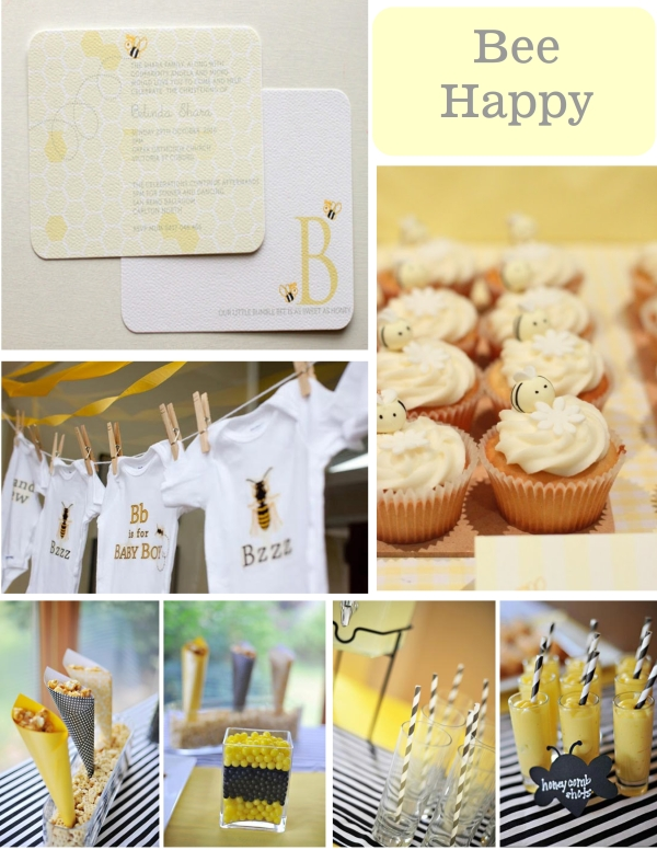 bee happy babyshower theme 001